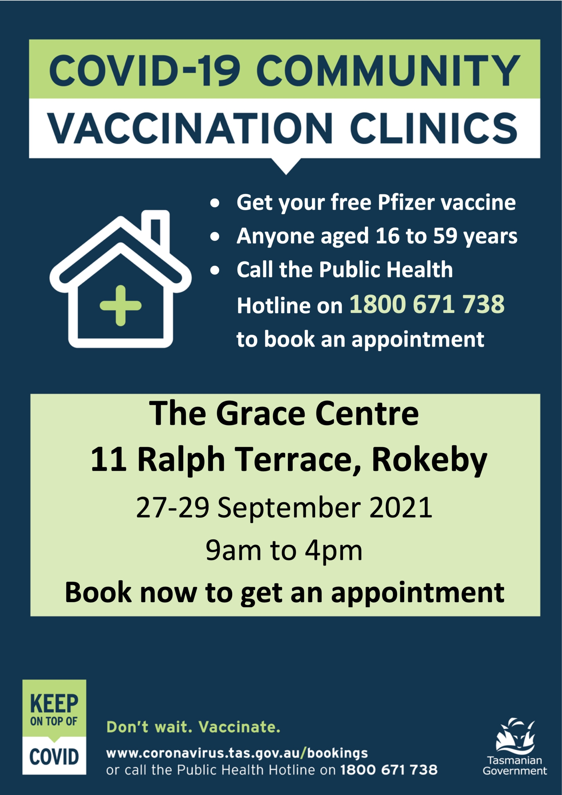 A4 clinic poster - Rokeby Aug 2021