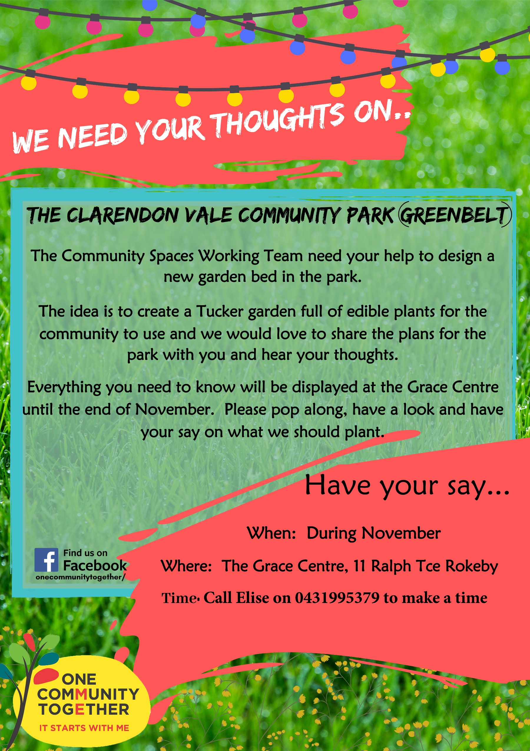 We-need-your-thoughts-Clarendon-Vale-Community-Park-Tucker-Garden-Invitation-2